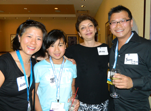 Photo of Dr. Mina Mina and Dr. Young Tze Kuah with his family