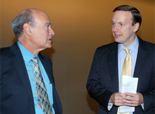 Photo of Marc Lalande and Chris Murphy