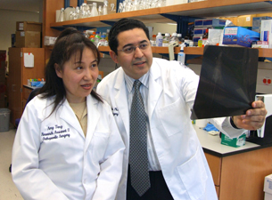 Photo of Hicham Drissi and Amy Tang