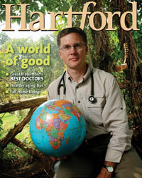Dr. Kevin Diekhaus on the cover of Hartford Magazine