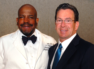 Photo of Dr. Cato T. Laurencin and Dan Malloy