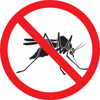 Image of a 'No Mosquito' sign