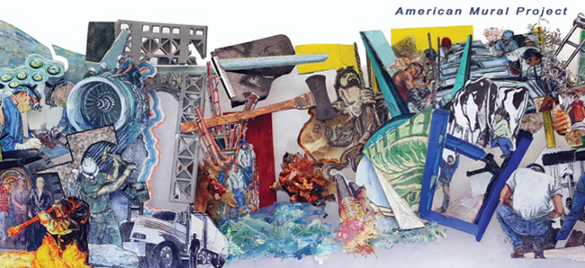 Photo of the American Mural Project's 'Wall of America'