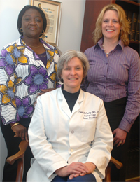 Photo of Victoria Odesina, Karen Myrick and Paula McCauley