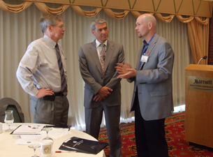 Photo of Drs. Mike Summerer, Barry Silbaugh, and Adam Silverman