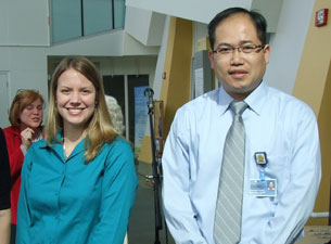 Photo of Heather Hutchins-Wiese and Kevin Wai Hong Lo
