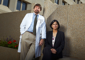 Photo of Drs. William B. White and Pooja Luthra