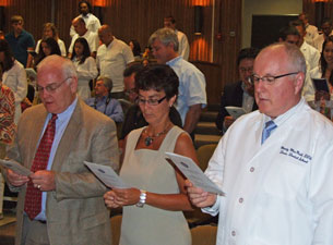 Photo of Dr. William MacDonnell, Dr. Carolyn Malon and Dr. Monty MacNeil
