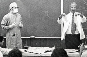 Classroom photo from the 1973 dental school yearbook