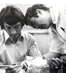 Photo of dental students from the 1973 dental school yearbook